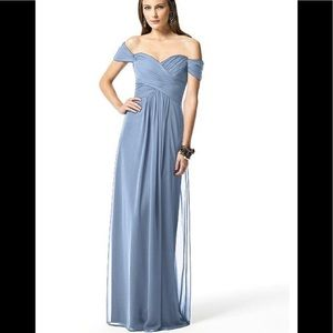 Bella Bridesmaids Dessy #2844 Cloudy Blue Dress